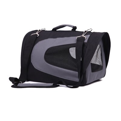 FurryGo Pet Carrier Size: Medium (10.5 H x 10 W x 18 L), Color: Black