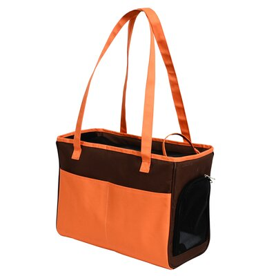 FurryGo Pet Carrier Color: Coffee/Orange