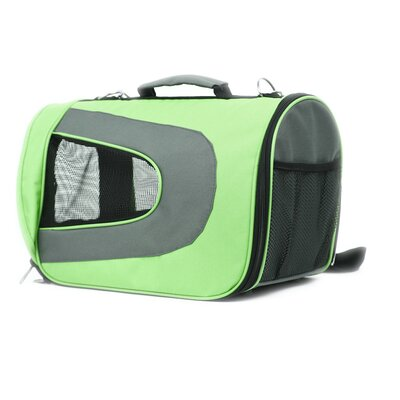 FurryGo Pet Carrier Size: Medium (10.5 H x 10 W x 18 L), Color: Lime Green
