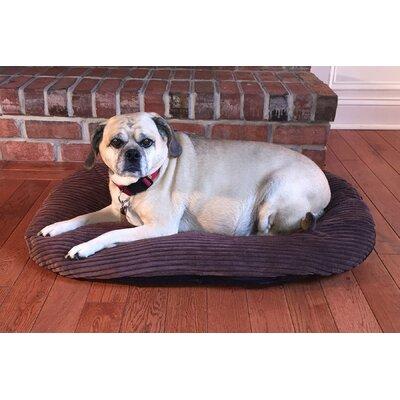 Luxury Corduroy Pet Bed/Pillow Size: 26.4 L x 18.5 W, Color: Cocoa