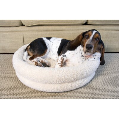 Premium Snuggle Bed Size: Small - 15.7 L x 15.7 W, Color: White