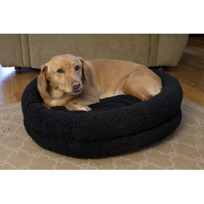 Premium Snuggle Bed Size: Small - 15.7 L x 15.7 W, Color: Black