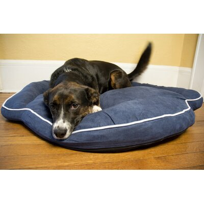 Luxury Bolster Pet Bed Color: Denim, Size: Small (35 L x 35 W)