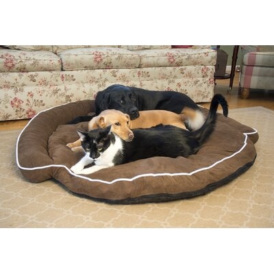 Luxury Bolster Pet Bed Size: Medium (42 L x 42 W), Color: Cocoa