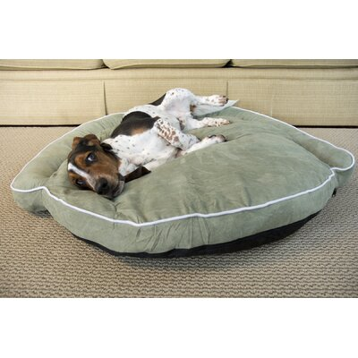 Luxury Bolster Pet Bed Size: Medium (42 L x 42 W), Color: Moss
