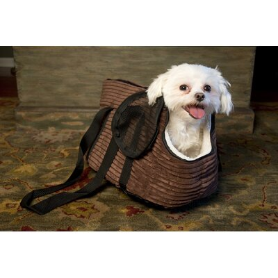 Iconic Pet Luxury Totez Pet Carrier Size: Small (9.4H x 9.8W x 20L), Color: Cocoa