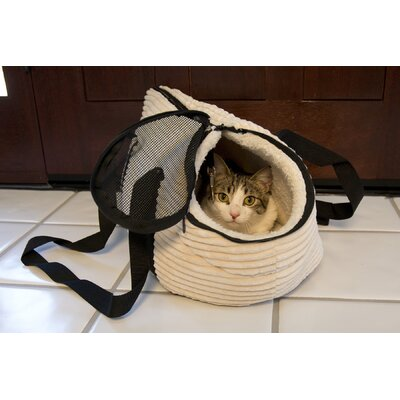 Iconic Pet Luxury Totez Pet Carrier Color: Cream, Size: Large (12.2H x 13W x 23.6L)
