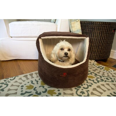 Luxury Snugglez Igloo Pet Bed Color: Cocoa, Size: Medium - 18.5 L x 14 W
