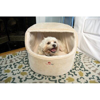 Luxury Snugglez Igloo Pet Bed Color: Cream, Size: Large - 20.5 L x 16 W