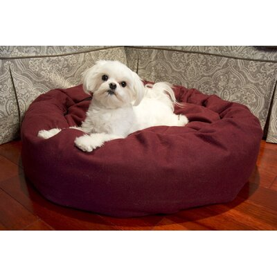 Luxury Nestlez Pet Bed Color: Purple, Size: Medium - 25.6 L x 25.6 W