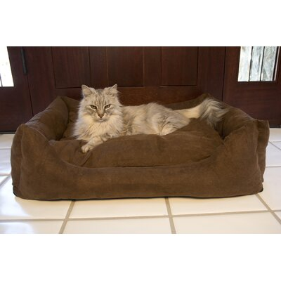 Luxury Swaddlez Bolster Pet Bed Color: Cocoa, Size: Medium - 27 L x 22 W
