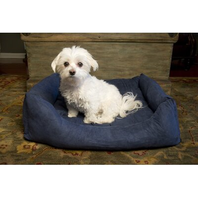 Luxury Swaddlez Bolster Pet Bed Color: Denim, Size: Medium - 27 L x 22 W