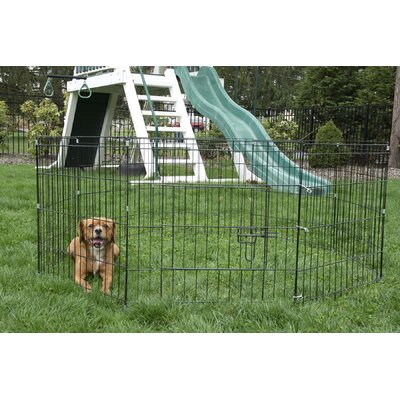 24 8 Panel Portable Wire Dog/Cat Pen