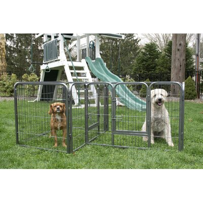 28 Heavy Duty Double Divided Tube Dog Pen