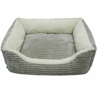 Luxury Lounge Pet Bed Color: Light Grey, Size: X-Large- 36x 30x 8