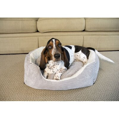 Luxury Lounge Pet Bed Size: Small - 22 L x 19 W, Color: Light Gray