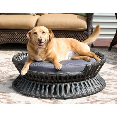 Rattan Raised Arc Dog Bed Size: Medium (27.5 L x 27.5 W)