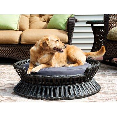 Rattan Raised Arc Dog Bed Size: Medium (27.5 L x 27.5 W)