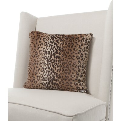 Luxe Leopard Faux Fur Throw Pillow