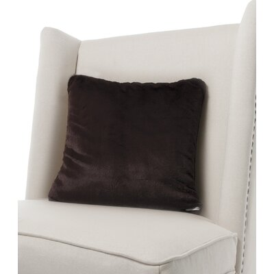 Luxe Solid Faux Fur Throw Pillow Color: Chocolate