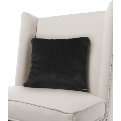 Luxe Solid Faux Fur Throw Pillow Color: Onyx
