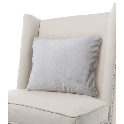 Luxe Solid Faux Fur Throw Pillow Color: Silver