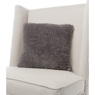 Bella Plush Throw Pillow Color: Charcoal