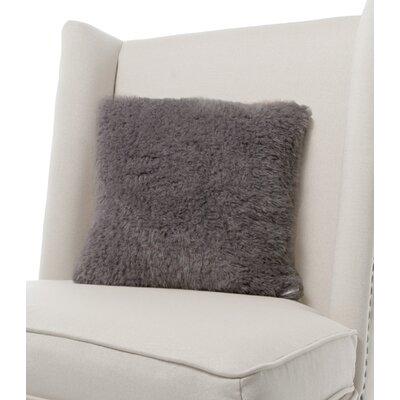 Bella Plush Throw Pillow Color: Charcoal