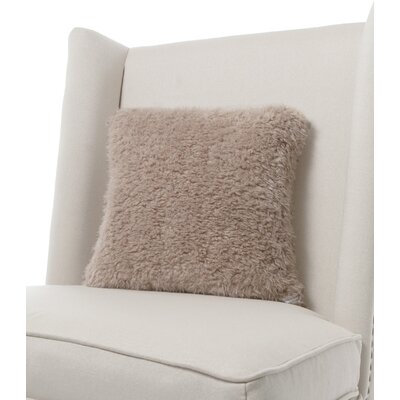 Bella Plush Throw Pillow Color: Flax