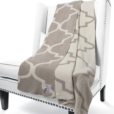 Dolce Moroccan Fabric Throw Color: Flax