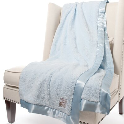 Chenille Solid Fabric Throw Color: Blue, Size: 88 H x 59 W
