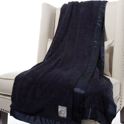 Chenille Solid Fabric Throw Size: 59 H x 45 W, Color: Denim
