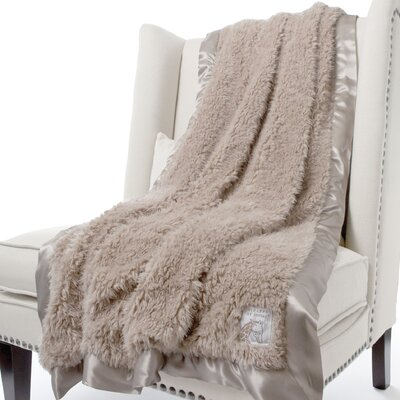 Bella Plush Fabric Throw Size: 59 H x 45 W, Color: Flax