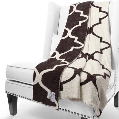 Dolce Moroccan Fabric Throw Color: Chocolate