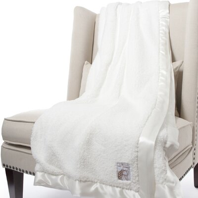 Chenille Solid Fabric Throw Size: 59 H x 45 W, Color: White