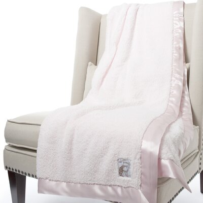 Chenille Solid Fabric Throw Size: 59 H x 45 W, Color: Pink