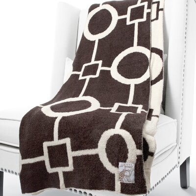 Dolce Matrix Fabric Throw Color: Chocolate