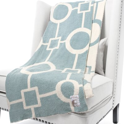 Dolce Matrix Fabric Throw Color: Lake