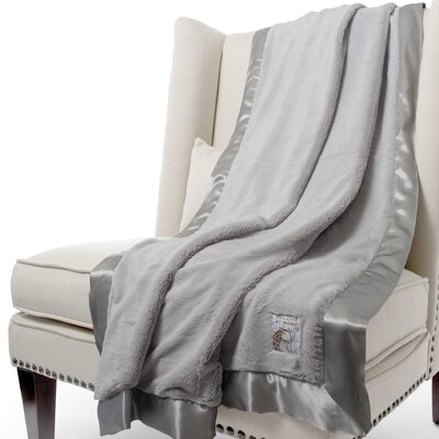 Luxe Solid Faux Fur Fabric Throw Size: 88 H x 59 W, Color: Silver
