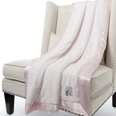 Luxe Solid Faux Fur Fabric Throw Color: Pink, Size: 59 H x 45 W