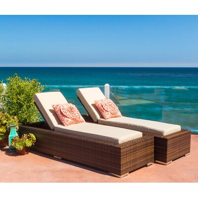 Ohana Chaise Lounge with Cushion Fabric: Beige