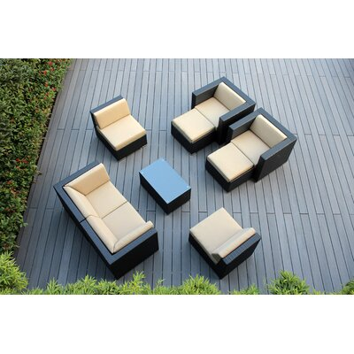 Ohana 9 Piece Deep Seating Group with Cushions Fabric: Sunbrella Antique Beige