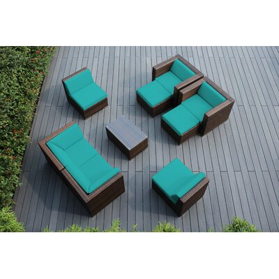 Ohana 9 Piece Deep Seating Group with Cushions Fabric: Sunbrella Aruba