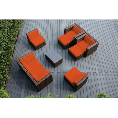 Ohana 9 Piece Deep Seating Group with Cushions Fabric: Sunbrella Tuscan