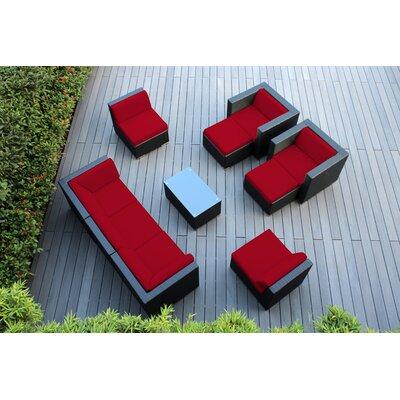 Ohana 10 Piece Deep Seating Group with Cushions Fabric: Sunbrella Jockey Red
