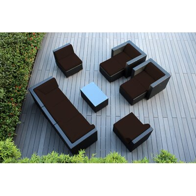 Ohana 10 Piece Deep Seating Group with Cushions Fabric: Bay Brown