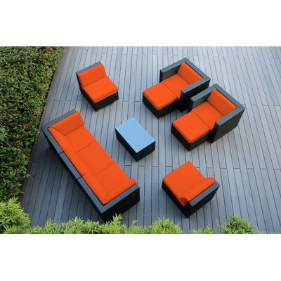 Ohana 10 Piece Deep Seating Group with Cushions Fabric: Tuscan