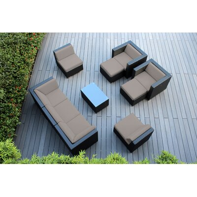 Ohana 10 Piece Deep Seating Group with Cushions Fabric: Sunbrella Taupe