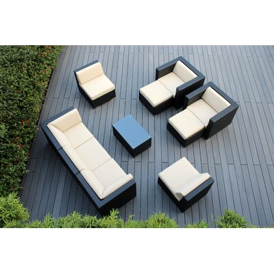Ohana 10 Piece Deep Seating Group with Cushions Fabric: Beige