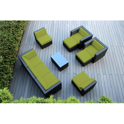Ohana 10 Piece Deep Seating Group with Cushions Fabric: Sunbrella Macaw